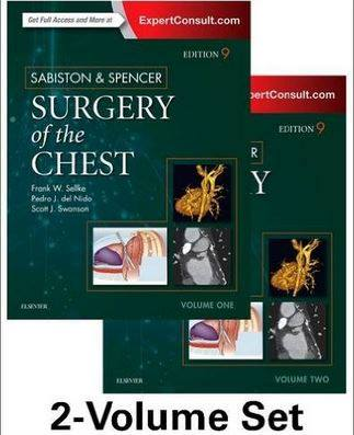 Sabiston and Spencer Surgery of the Chest: 2-Volume Set, 9th Edition – Original PDF + Videos